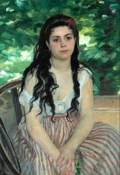 Beautiful! No one else does portraits better than Renoir. Pierre Auguste Renoir - Summer [1868]