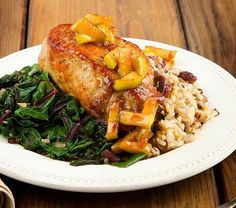 Apple Glazed Pork Chops by Fabio Viviani http://www.chefd.com/collections/all/products/apple-glazed-pork-chops