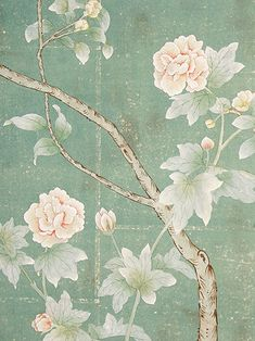 Paul Montgomery Studio has a stunning collection of hand painted wallpaper including their Chinoiserie Collection that is much loved by in. Et Wallpaper, Hand Painted Wallpaper, Chinoiserie Wallpaper, Chinoiserie Chic, Painting Wallpaper, Fabric Wallpaper, Handmade Wallpaper, Wallpapers Texture, Wall Murals