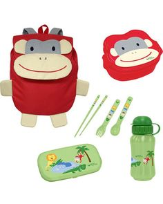 We're going ape for this travel lunch set, complete with a matching bento box, bottle, utensils, and backpack! Click above to buy one for your little monkey.