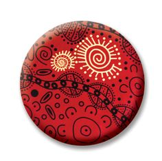 "Aboriginal 2 (Magnetic) Design insert  that fits into 1""Magnabilities interchangeable jewelry."