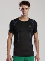 HRX Solid Men's Round Neck Black T-Shirt                 Price: INR 849 | India