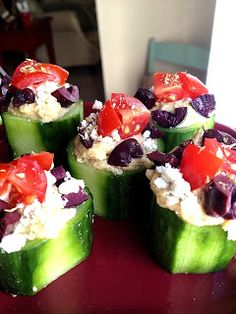 A Healthy Makeover: Greek Cucumber Appetizers