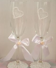 Como decorar copas para boda ~ lodijoella