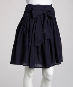 Loving this Navy Bow Skirt on #zulily! #zulilyfinds