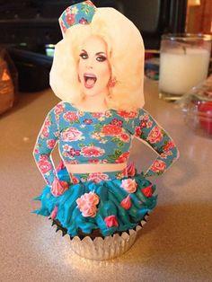 Katya Zamolodchikova RPDR cupcake! #cupcakes #RPDR #party