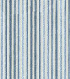 Upholstery Fabric-Waverly Classic Ticking/Denim, , hi-res.  Plain old ticking!  I love it!