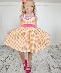Loving this Orange Soda Bonnie Dress