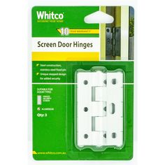 Find Whitco White Screen Door Hinge at Bunnings Warehouse. Visit your local store for the widest range of building & hardware products.
