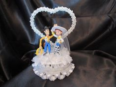 Disney Toy Story Woody and Jessie Wedding CakeTopper by 1topper