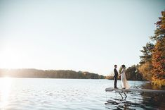 Wisconsin wedding on the lake