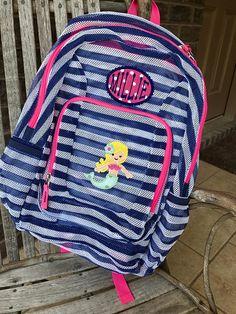 245941dbc Monogrammed Backpack   Mermaid   Mermaid Backpack   Girls Backpack   Mesh  Backpack   Monogrammed Mesh Backpack   Mermaid Bookbag