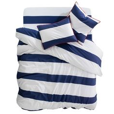 YATCH Duvet Cover and Oblong Pillowcase(s) Blue/white