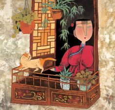 EDGE OF THE WINDOW, Hu Yongkai (male, 胡永凯; b1945, Beijing)