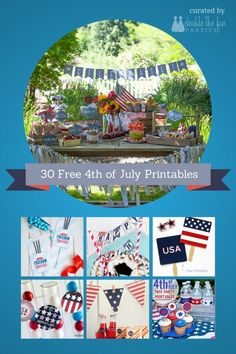 30 free 4th of July party printables | http://doublefunparties.com/2014/07/01/freebie-friday-30-amazing-4th-of-july-free-printables/