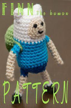 Finn from Adventure Time - Amigurumi Pattern (Crochet)