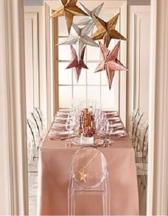 A rose gold bridesmaid dress for rose gold or copper wedding colors featuring short, long and metallic rose gold bridesmaid dresses, along with shopping details! Gold Christmas Decorations, Table Decorations, Glitter Decorations, Holiday Decor, New Year's Eve Party Themes, Deco Rose, Rose Gold Bridesmaid, Bridesmaid Dress, Star Lanterns