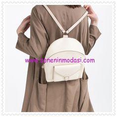 Zara ekru cep detaylı sırt çantası