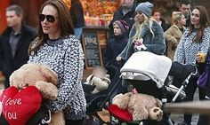 Tamara Ecclestone wins teddy for daughter Sophia at Winter Wonderland #DailyMail