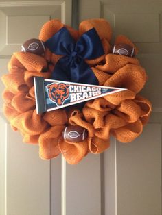 Chicago Bears Wreath by Sayitwithstyle68 on Etsy
