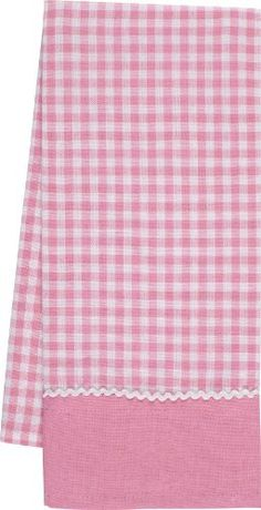 Gourmet Classics Gingham Kitchen Towel with White Scallop Trim, 18 by 29-Inch,Pink by Gourmet Classics, http://www.amazon.com/dp/B008CO0SW6/ref=cm_sw_r_pi_dp_kx1Eqb1HK9KAR