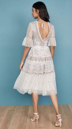 Needle & Thread Midsummer Lace Dress Lace Skirt, Lace Dress, White Dress, Vintage Bohemian, Boho, Embellished Dress, India Fashion, Needle And Thread, Grosgrain Ribbon