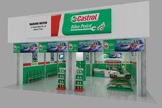 Bengkel castrol on Behance Shop Signage, Pos Display, Oil Shop, Information Architecture, Autodesk 3ds Max, Garage Design, Store Design, Portfolio Design, Behance