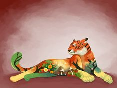 Autumn Tiger by mazzlebee of DeviantArt