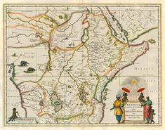 ANTIQUE MAP OF EAST AND CENTRAL AFRICA BY BLAEU J.