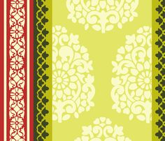 Holiday Traditional India Block Print Wrapping Paper fabric by india*pied-a-terre on Spoonflower - custom fabric