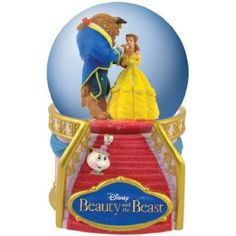 Amazon.com: Disney Motif Globe with Beauty And The Beast Dancing in Ballroom: Furniture & Decor