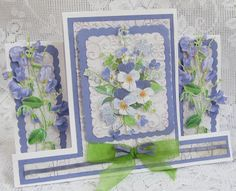 Tattered Lace Dies: Charisma Pansies and Sweet Peas by Brenda