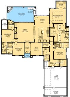 Plan Fab 4 Bed French Country - My Kitchen Home Nice New House Plans, Dream House Plans, House Floor Plans, My Dream Home, Master Suite, Master Bath, Master Closet, Master Bedroom, French Country Bedrooms