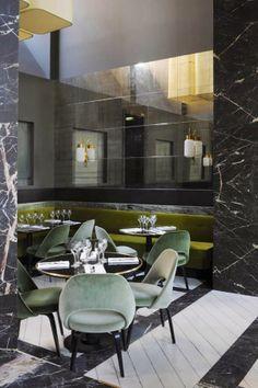 Monsieur Bleu at the Palais de Tokyo in Paris designed by Joseph Dirand