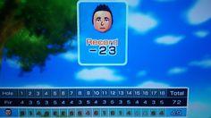 23 under par in disc golf! Wii sports resort.