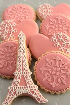 French inspired cookies by Miss Biscuit   Flickr - Photo Sharing!