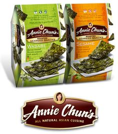 Annie Chun - Low Carb Roasted Seaweed Snack - Low Carb, Gluten Free, Vegetarian, Wasabi and Sesame Flavor