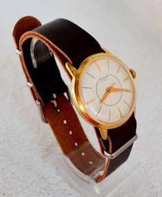 Men`s Watch Vintage Gold-plated RAKETA 1960s Collectibles Soviet Luxury watch #Raketa #LuxuryDressStyles #Raketa #watch #vintage #gold #wristwatch #giftsforhim #fathersday