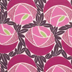 $12 /yd cotton sateen Annette Tatum - Classica Sateen - Flora in Berry