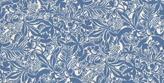 Fantasia (1310) - Boråstapeter Wallpapers - Images of hunting foxes combined with an array of floral motif and leaves to create this stunning wallpaper. Showing in blue on a white background. other colour ways available. Please request a sample for true colour match.