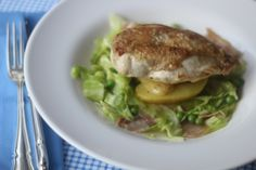 Breast of Chicken with Cabbage and pea broth