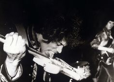Jimi Hendrix playing with his tongue. Why? Because he is Jimi Hendrix!