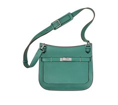 "Jypsiere 28 Hermes unisex shoulder bag in malachite green taurillon clemence leather (size 28) 11"" x 8.5"" x 5""<br />Front flap closure with swivel clasp. Adjustable strap with 5 holes and a shoulder pad for comfort. Inside includes front zip pocket, back large pocket with gusset and small pocket for cell phone Color : malachite green"