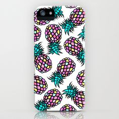 PINEAPPLES iPhone & iPod Case by Y.COH - $35.00
