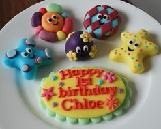 in the night garden cake topper plus plaque 100% edible made from icing