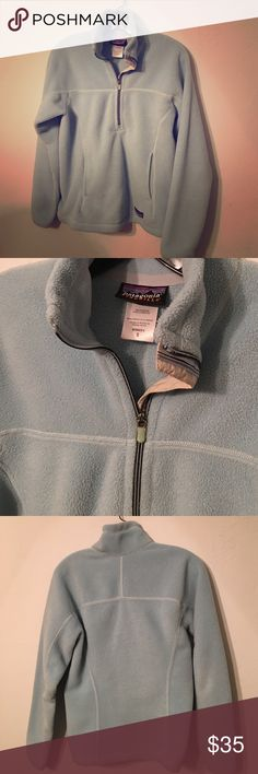 Patagonia pullover Patagonia synchilla pullover in light blue. Size small. Patagonia Jackets & Coats