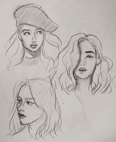 Drawing techniques, step by step sketches, art sketches, fashion sketches, Pencil Art Drawings, Art Drawings Sketches, Drawing Faces, Drawing Art, Drawing Girls, Face Pencil Sketch, Easy Portrait Drawing, Gesture Drawing, Horse Drawings
