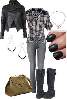 """""""Biker Chic"""" by vintagechic360 on Polyvore"""