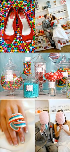 Colorful, fun, and romantic candy shop photo session. {Engagement / Couple Photography}
