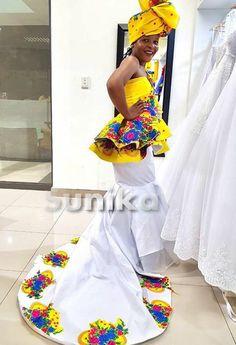 Venda Traditional Attire, Tsonga Traditional Dresses, South African Traditional Dresses, Traditional Wedding Dresses, African Fashion Ankara, Latest African Fashion Dresses, African Dress, African Clothes, South African Design